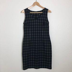 A2 Ann Taylor Factory Petite Black Plaid Dress